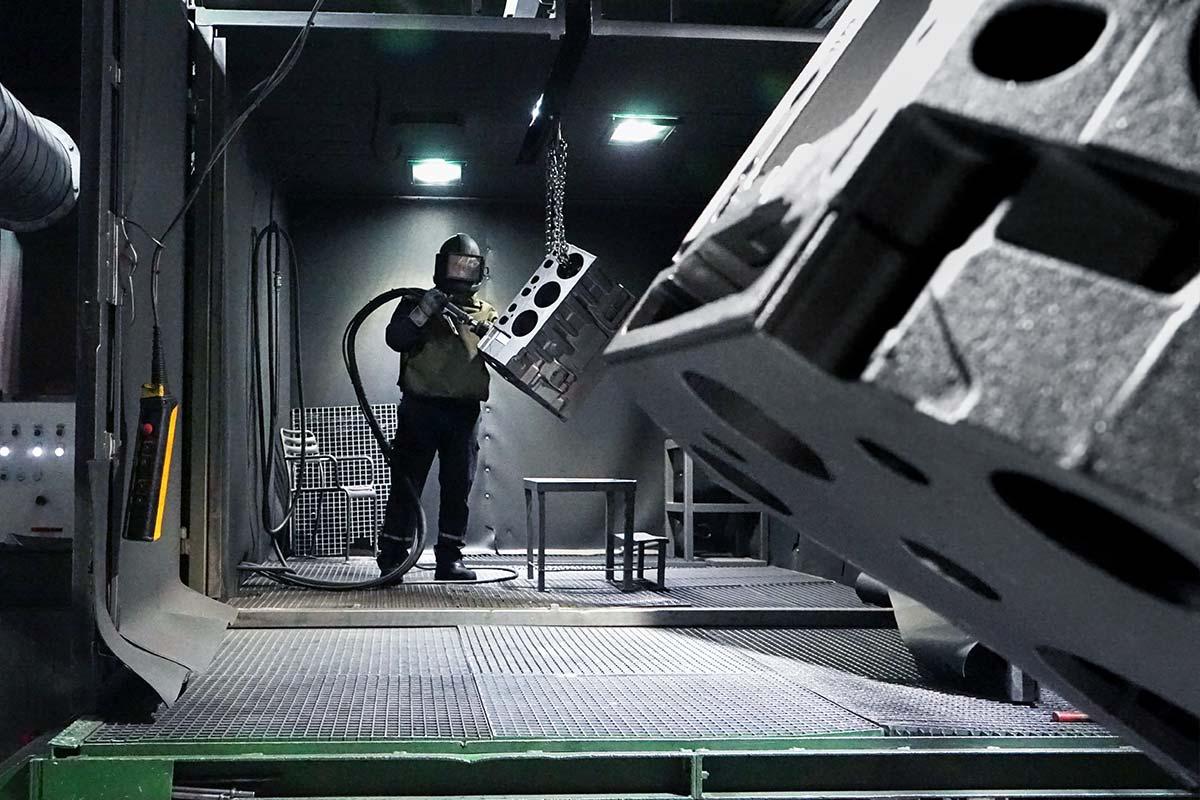 KBM Gussputz-Center Leistungen Strahltechnik